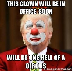 Donald Trump Clown - This clown will be in office  soon Will be one hell of a circus