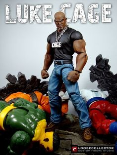 Luke Cage (street clothes) (Marvel Legends) Custom Action Figure