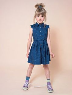 Girls summer dress with shoulder details by No Added Sugar for summer 2015 kidswear