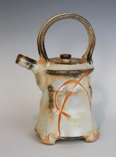 Malcolm Davis Shino Teapot With Feet $220 SOLD