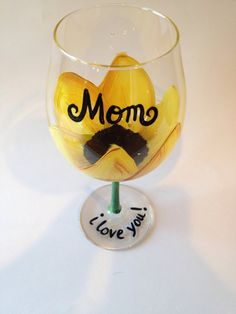 Sunflower wine glass personalized Mother's Day, Birthday gifts, wedding favors, bridesmaids favors on Etsy, $20.00
