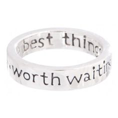 """Worth Waiting For"" Purity Ring  I want to replace my current purity ring with this one, I absolutely love it. <3"