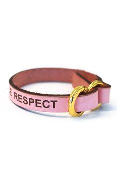 Wish ribbons leather (gold) - Women & Men Accessories | Christina Kontova