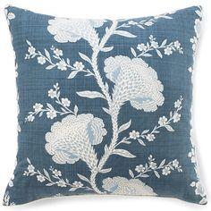 Jiti Pillows Geisha Cotton Pillow in Slate Blue | Wayfair