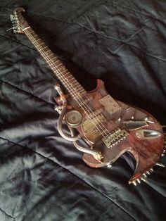The Vagrant - Custom Steampunk Guitar.