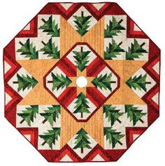 Quilted Christmas Tree Skirt   FaveQuilts.com