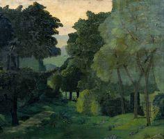 John Nash (English, 1893-1977),A Path Through Trees, c. 1915. Oil on canvas, 50.8 x 61cm. Tate.  via