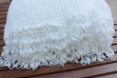 White Baby Blanket  Baby Shower Gift  Pram by karmaistanbul, $50.00