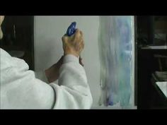 MILLIE GIFT SMITH PAINTS WATERCOLOR WINTRY DAY PART 1 - YouTube