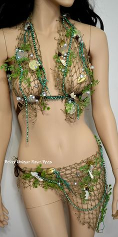 Mint Green Siren of the Sea Mermaid  Bra and by UniqueRaveBras $85