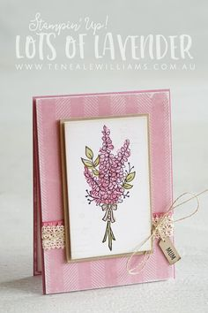 {Love the background too - nice touch with lace & mini tag and of course the lavender!}