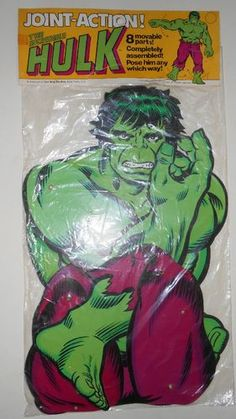 """Vintage 1978 Joint Action """"The Incredible Hulk 8 Movable Parts   eBay"""