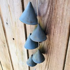 Blue-grey Ceramic Bells Ceramic Home Decor Ceramic Garden Window Hanging, Rain Shower, Stone Flooring, Handmade Decorations, Little Gifts, Twinkle Twinkle, Decorative Bells, Wind Chimes, House Warming