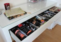 Are your makeup products all over the place? Then it's time to clean up! Try these IKEA makeup storage ideas and solutions today.