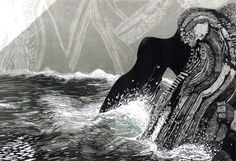 Pine Feroda, Merlyn Chesterman, Julia Manning, Judith Westcott and Ian Phillips ~ Spring Tide ~ Collaborative woodcut, 83 x 122 cm Linocut Artists, Collaborative Art Projects, Galleries In London, Art Courses, Wood Engraving, Woodblock Print, Limited Edition Prints, Artist At Work, Art Gallery
