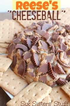 Six Sisters Reeses Cheeseball. This is for the chocolate and peanut butter lovers out there!! #sixsistersstuff