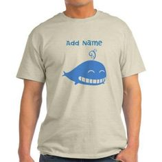 Cafepress Personalized Whale Light T-Shirt, Size: Small, Beige