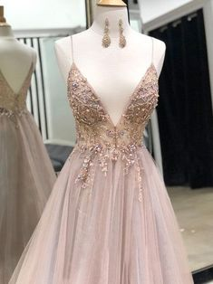 Beautiful Glamorous Custom Made V Neck Tulle Long Prom Dress, Spaghetti Straps S. - Beautiful Glamorous Custom Made V Neck Tulle Long Prom Dress, Spaghetti Straps Sexy Long Evening Dre on Luulla V neck formal dresses Source by - Sparkly Prom Dresses, Grey Prom Dress, Tulle Prom Dress, Graduation Dresses, Homecoming Dresses, Wedding Dresses, V Neck Prom Dresses, Elegant Dresses For Women, Pretty Dresses