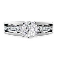 Copley Triple Row HOF Engagement Ring