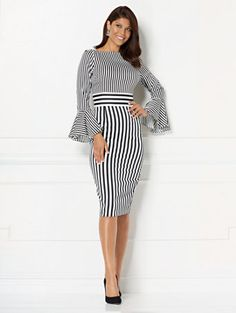 c01d0cc340 Shop Eva Mendes Collection - Amal Striped Sheath Dress. Find your perfect  size online at