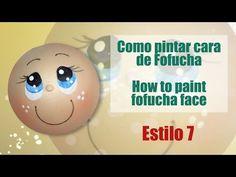 Como pintar cara fofucha 5 - How to paint fofucha face 5 - YouTube