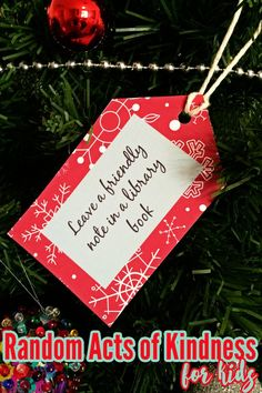 These printable tags add a special element of kindness to your advent plans in the lead up to Christmas.