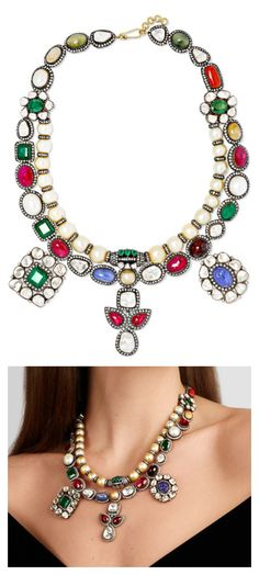 4ece9de216e Amrapali - 18-karat gold and sterling silver multi-stone necklace