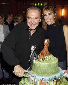 No longer so happy: Teen idol David Cassidy's estranged wife, Sue, has allegedly requested the court to immediately force David to sell all their property. The couple, who celebrated his 52nd birthday in London on April 2002, had been together for 28 years