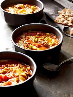 RU301231 Cabbage Roll Soup, Cabbage Rolls, Crockpot Recipes, Soup Recipes, Cooking Recipes, Venison Recipes, Chowder Recipes, Sausage Recipes, Soups