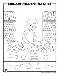 Printable Library Activities Coloring Pages Word Puzzles Hidden Pictures Woo Jr Kids Activities Library Activities Hidden Pictures Library Skills