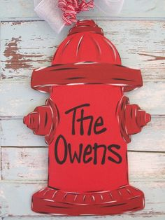 Personalized Fire Fighter Door hanger by BluePickleDesigns on Etsy, $45.00
