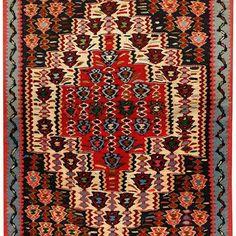 Sena Kurdi Kurdish Hand Knotted Killim Size: M x M Knots, Bohemian Rug, Rugs, Home Decor, Farmhouse Rugs, Decoration Home, Room Decor, Knot, Carpets