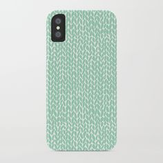 Hand Knit Mint iPhone Case by Project M | Society6