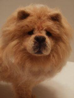 Chow Chow Dog Sculpture - Gorgeous -  OOaK - Artist Soft Sculpture Needle Felted Dog Sculpture
