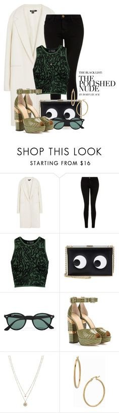 """""""Feb 10th (tfp)"""" by boxthoughts ❤ liked on Polyvore featuring DKNY, Current/Elliott, Opening Ceremony, Anya Hindmarch, Ray-Ban, Charlotte Olympia, LC Lauren Conrad, Bony Levy, women's clothing and women"""