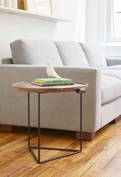 Buy Porter End Table from Gus Modern. The Porter End Table is a functional, organic accent piece which features a solid walnut routered top, which sits . Bureau Design, Modern Table, Contemporary Furniture, End Tables, Coffee Tables, Home Furnishings, Furniture Design, Home Decor, Living Room