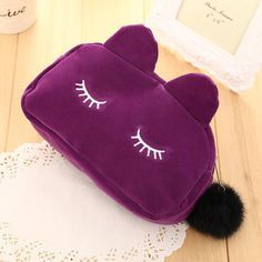 Cute Cat Neceser Beautician Vanity Trip Travel Toiletry Make Up Makeup Suitcase Case Storage Pouch Women Cosmetic Bag Organizer Large Storage Bags, Bag Storage, Makeup Suitcase, Travel Makeup, Cute Cat Face, Beauty Case, Pencil Bags, Travel Toiletries, Makeup Organization