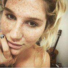 I love her freckles...and mine too!