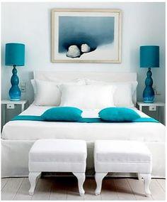 blue turqoise interior blauw turkoois interieur design bedroom bathroom living room kitchen