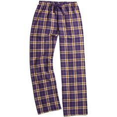 876c7a83a3 Boxercraft Purple   Gold Plaid Flannel Pajama Pants ( 16) ❤ liked on  Polyvore featuring