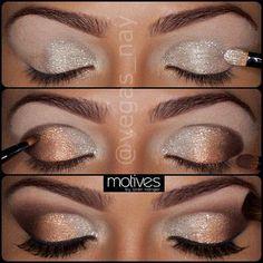 Glitter + Smoky Brown Eyes - #glitter #smokey #browneyes #eyemakeup #makeup #eyes - bellashoot.com