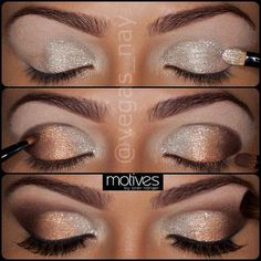 Glitter + Smoky Brown Eyes - #glitter #smokey #browneyes #eyemakeup #makeup #eyes - bellashoot.com