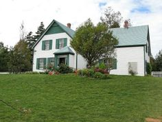 """Although L.M. Montgomery never lived there herself, the iconic Green Gables house and farm, down the road from her grandparents, became the setting for her renowned novel, """"Anne of Green Gables"""". The house originally belonged to cousins of her grandfather and today this childhood home of Anne of Green Gables in Cavendish on Prince Edward Island, Canada is a protected cultural landmark."""