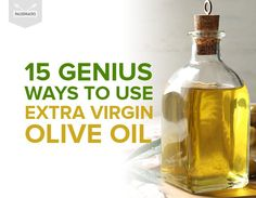 15 Genius Ways to Use Extra Virgin Olive Oil Olive Oil Uses, Olive Oil Skin, Basic Cooking, Cooking Oil, Olive Oil Beauty, Olive Oil Benefits, Extra Virgin Oil, Healing Oils, Natural Health Remedies