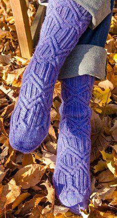 Ohm sock by Nancy Vandivert in Knitty Winter 2013.  Based on Ohm's Law (V=IR).