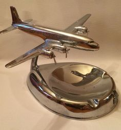 Vintage American Airlines DC3 Ashtray Chrome Airtray Vic Pastushin