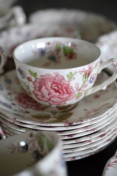 Etsy 66 Piece Johnson Brothers Rose Chintz by SongSparrowTreasures