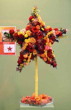 Star flower arrangement