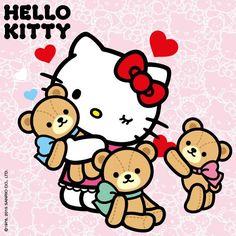 Hello Kitty et Tiny Chum Hello Kitty Art, Hello Kitty Themes, Hello Kitty Pictures, Hello Kitty Birthday, Sanrio Hello Kitty, Hello Hello, Hello Kitty Backgrounds, Hello Kitty Wallpaper, Cartoon Clip