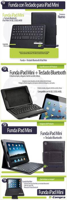 Funda Teclado iPad Mini. Cliente D-Compra. Elaborado por iGrafi